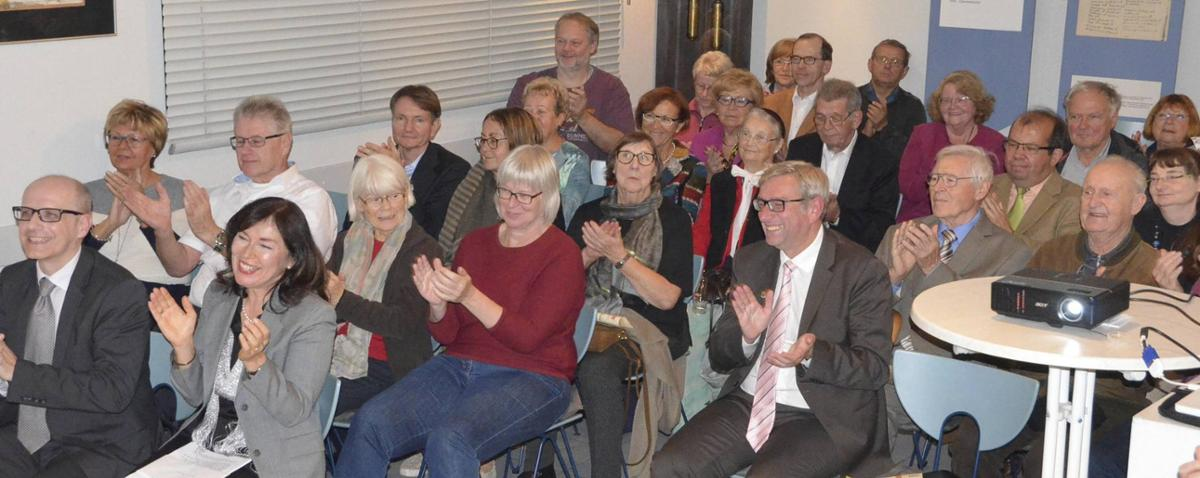 Anlässlich der Jubliäumsfeier des Heimat- und Geschichtsvereins waren die Sitzreihen im Werkstattmuseum gut gefüllt. © m