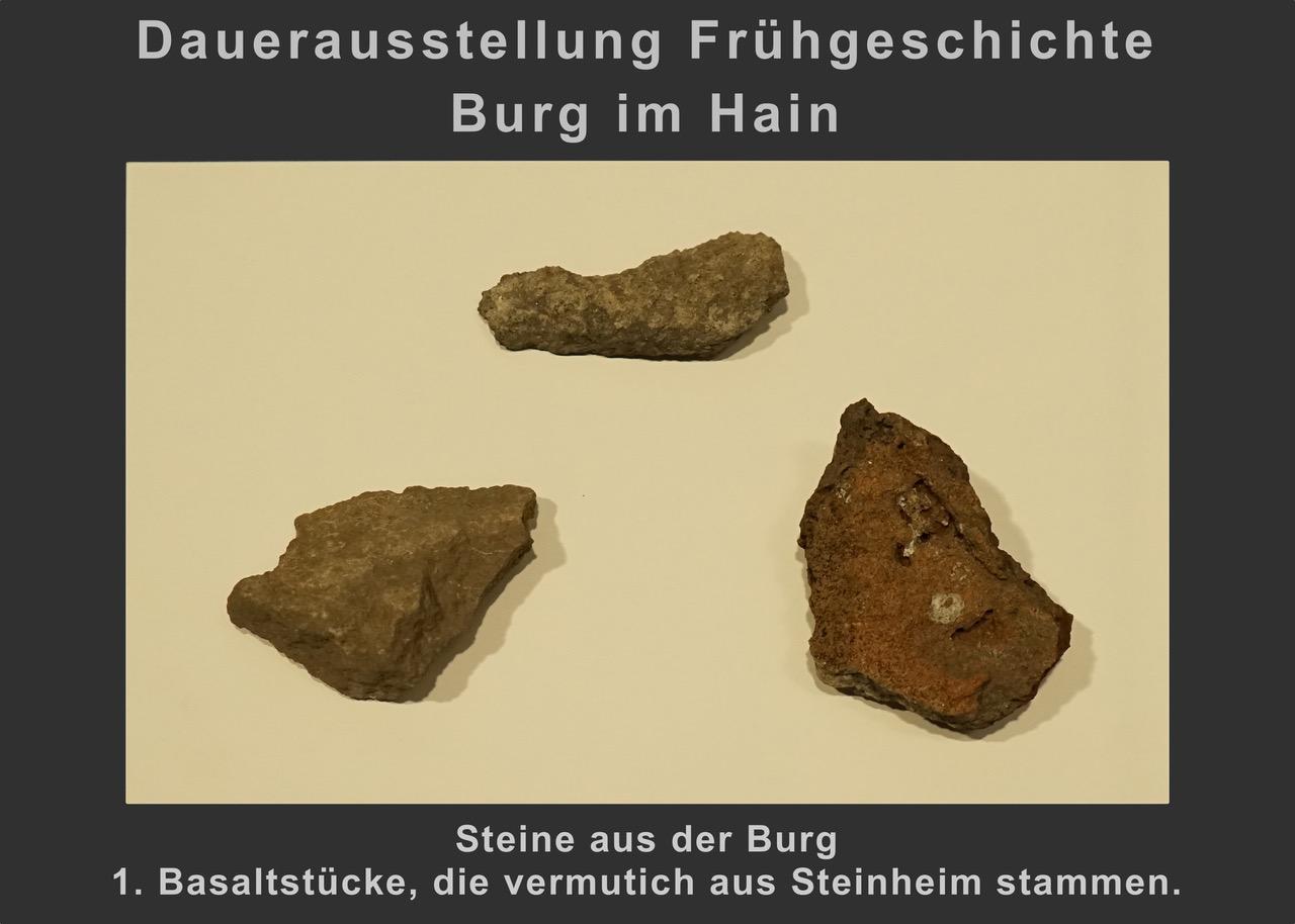 (6) Steine aus der Burg