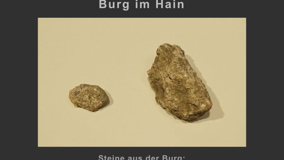 (8) Steine aus der Burg