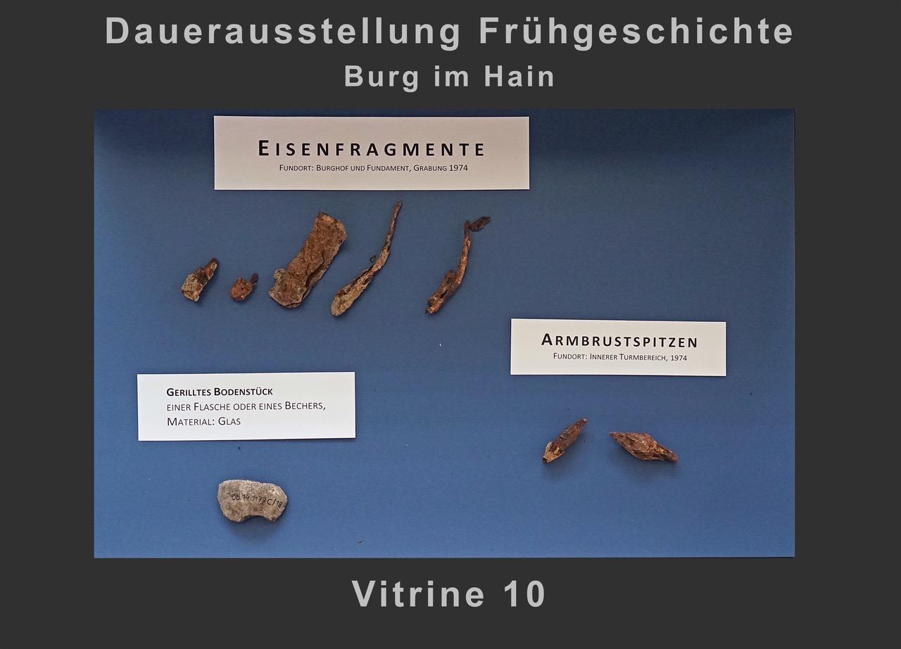 Vitrine 10: Eisenfragmente