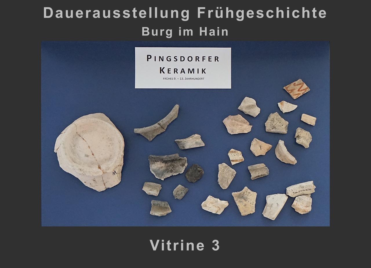 Vitrine 3: Pingsdorfer Keramik