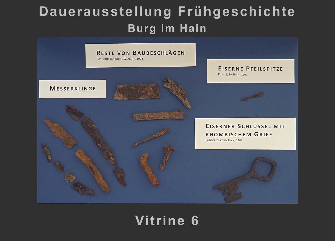 Vitrine 6: Eisenfragmente